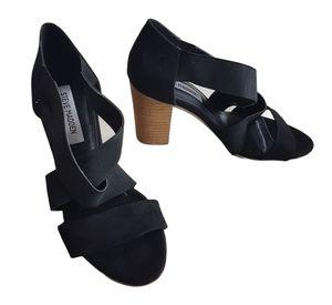Steve Madden Block Heel Sandal Black Size 38